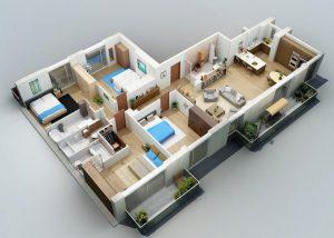 Denah Rumah 4 Kamar Ideal dan Cantik Bikin Makin Betah Tuk Dihuni